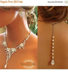 A personal favorite from my Etsy shop https://www.etsy.com/listing/114069686/bridal-jewelry-set-backdrop-necklace