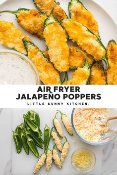 These Air Fryer Jalapeño Poppers are perfect for a game day snack, or to be served as an appetizer any day!