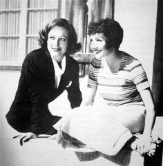 Rare pic with Claudette Colbert
