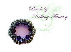 Kettenanhänger, Anhänger in Lila mit Swarovskis von Beads by Rolling-Fantasy auf DaWanda.com