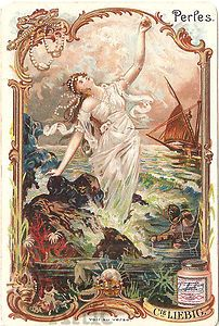 Pearls Classical  Antique Vintage Victorian Trade Card |