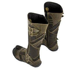 Vajra Tabi (Tabi) at AYYA - Custom ninja tabi boots, hand-made leather bags, and custom garments found on Polyvore