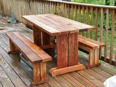 Trestle Picnic Table and Benches