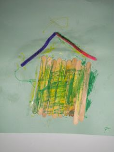 craft stick house for preschoolers Craft Stick Crafts, Craft Ideas, Preschool Letters, Thematic Units, Solar System, School Ideas, Homeschool, Arts And Crafts, Classroom