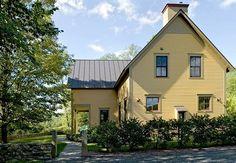 Yellow exterior. Farmhouse paint colours.
