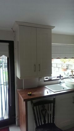 Gas boiler cupboard handmade to match in with an existing kitchen...