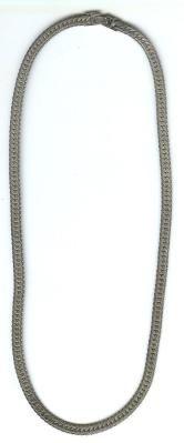 """Vintage 24"""" Silver Necklace 9.25"""