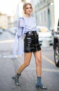 Así viste la italiana –bloguera, empresaria y reina de las redes sociales– en las frenéticas 'fashion weeks'.
