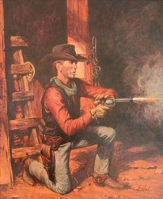 Cowboy Art, Cowboy And Cowgirl, Cowboy Pictures, Cowboy Pics, Red Redemption 2, Nostalgic Art, Western Comics, Tv Westerns, West Art