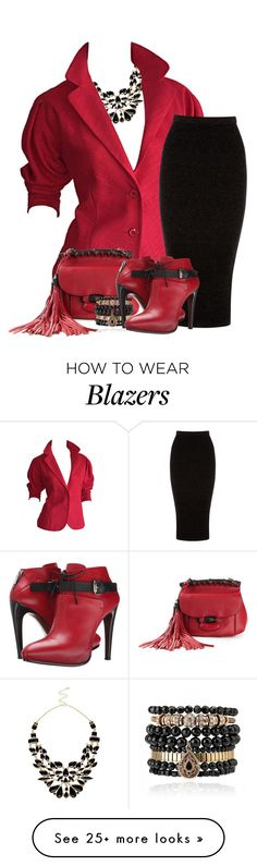 """Halston"" by flowerchild805 on Polyvore featuring River Island, Halston, Warehouse, Gucci, Samantha Wills and COSTUME NATIONAL"