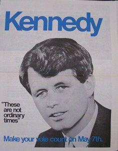 1968 newspaper headlines Robert Kennedy election poster - Google Search