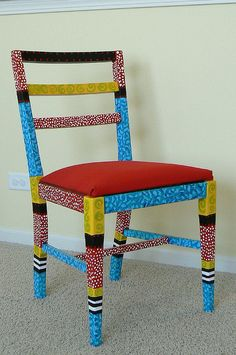 Funky Hand Painted Furniture | Painted Chair | Flickr - Photo Sharing!