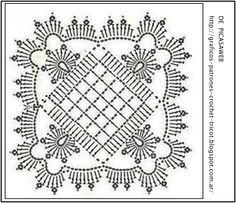 I can see this crochet pattern as a quilt. I wonder if I can convert it to a pattern?
