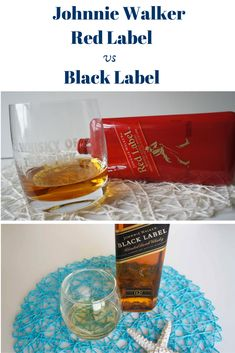 Side by Side: Johnny Walker Red Label vs Black Label whisky Comparison Blended Whisky, Whisky Tasting, Malt Whisky, Whiskey, Alcoholic Drinks, Label, Notes, Red, Black