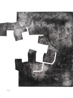 Chillida Eduardo : Original signed etching : Tribute to Rembrandt