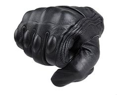 FXC Full Finger Motorcycle Leather Gloves Men's Premium P...