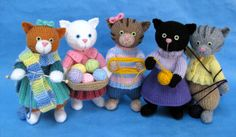 Kitty's Knit Klub. Knitting patterns by Alan Dart