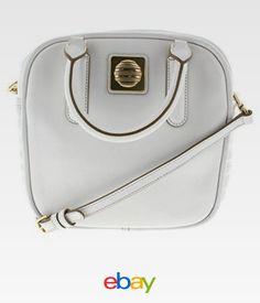6ea9b6a7115f Marc by Marc Jacobs 9658 Womens The Big Bind Stevie White Satchel Handbag  Large for sale online | eBay
