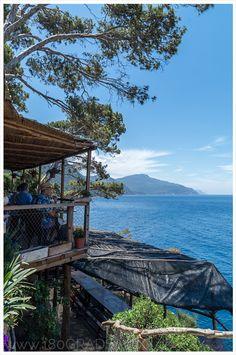 Restaurant Sa Foradada mit fantastischem Meerblick und einer der besten Paella auf Mallorca. Das Ziel einer großartigen Wanderung auf Mallorca.