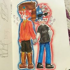 Brothers In Arms, America And Canada, Country, Hetalia, Gravity Falls, Balls, Fandom, Ships, Painting