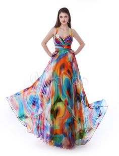 Long Prom Dresses 2017 African Print Prom Dress Halter Floral Print Cross Back Chiffon Party Dress Milanoo & Wedding > Occasion Dresses > Prom Dresses Prom Dresses 2017, Pageant Dresses, Evening Dresses, Quinceanera Dresses, Bridesmaid Dresses, Cheap Black Dress, White Dress, Robes D'occasion, Cheap Party Dresses