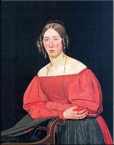 Cecilie Margrethe Petersen, sister of the artist - Christen Købke, 1835