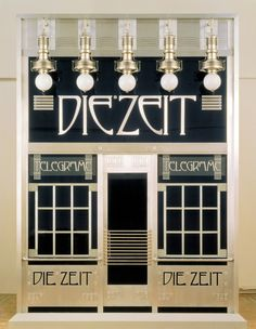 "Design for the telegraph office ""Die Zeit"" by Otto Wagner.  ottowagner.com"