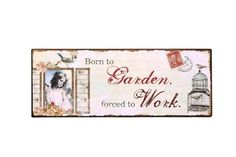 Lovely metal sign for indoor use - now back in stock for only £6.00