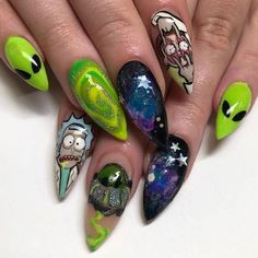Summer Acrylic Nails, Best Acrylic Nails, Acrylic Nail Designs, Aycrlic Nails, Nail Manicure, Nail Swag, Hippie Nails, Acryl Nails, Fire Nails