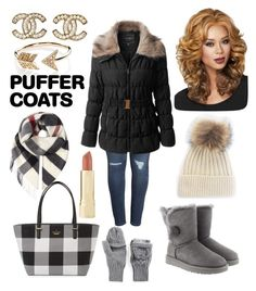 """Puffer Coat"" by irena21 ❤ liked on Polyvore featuring Caslon, LE3NO, UGG, WithChic, Under Armour, Kate Spade, Burberry, Axiology, Chanel and EF Collection"