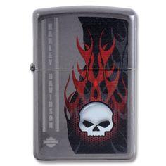 Zippo® Harley Davidson® Skull Collection Street Chrome Lighter