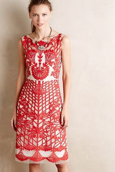 Sugared Ruby Sheath - anthropologie.com - by Geisha Designs