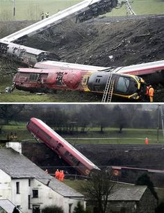 Miraculous train derailment with only one casualty    It was a tranquil setting in the heart of the picturesque Lake District.  But on a cold, rainy evening in February 2007, the peace at a farmland near to the tiny village of Grayrigg was shattered when a Virgin Pendolino London to Glasgow express train derailed on the West Coast Main Line. In just a few seconds, eight carriages of the Class 390 tilting train were derailed and 86 passengers and two crew of the 105 people aboard were…