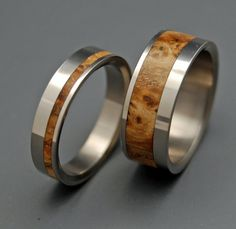 I would love to replace my wedding band and Scott's wedding ring with these!
