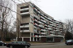 Walter Gropius. Apartment House for Interbau Exhibition, Berlin-Hansaviertel, 1955-1957