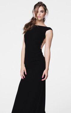 Embellished Lycra Crepe Gown by Tarik Ediz 50026