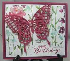 Painted Blooms Designer Paper, Butterflies Thinlits