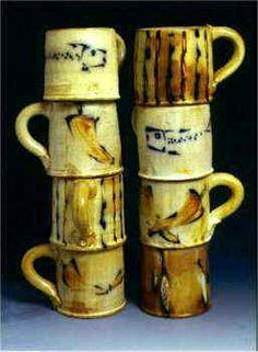 Dog Bar Pottery Dinner Mugs