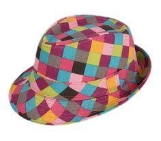 703ebef9bdb COMVIP Classic Colorful Plaid Stripes Fedora Sun Hat Child Panama Jazz Hat   C. Material