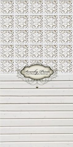 TWO IN ONE 5ft x 10ft  Vinyl floordrop backdrop Vinyl Photography white Victorian Tile and white painted wood. $99.99, via Etsy.