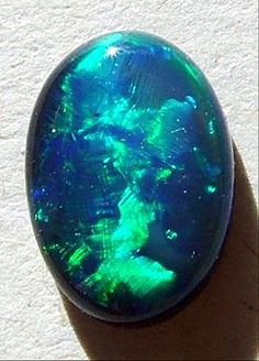 The beautiful colours of a black Australian Opal.