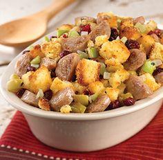 al fresco ® Recipe - Cornbread Stuffing With Sweet Apple Chicken Sausage