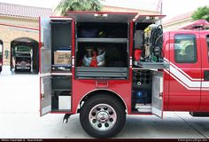 Master Body Works Commercial Cab Command Los Angeles Fire Department Emergency Apparatus Fire Truck Photo