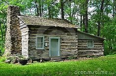 Old Stone Cabin | Old Log Cabin Stock Photos - Image: 19566333