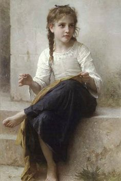 Sewing, by William Bouguereau