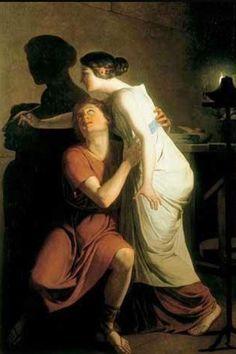 Joseph #Benoit #Suvee 'L'invention de la peinture'