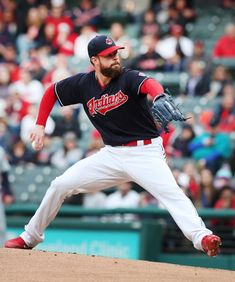 Cleveland Indians Corey Kluber pitches against the Seattle Mariners at Progressive Field, on April (Chuck Crow/The Plain Dealer). Corey Kluber, Cleveland Indians Baseball, April 27, Seattle Mariners, Crow, Athletes, Dachshund, Mlb, Ohio
