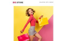 Big Store - Responsive Email Newsletter Template Email Templates, Newsletter Templates, Campaign Monitor, Responsive Email, Aura Colors, Fashion Templates, Email Newsletters, Ui Kit, Store