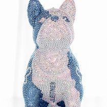 French Bruno by J. Swarovski, French Bulldog, Butterfly, Bling, Glamour, Sculpture, Crystals, Art, Art Sculptures