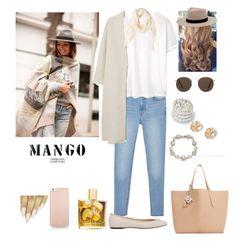 """MANGO"" by tiffany-london-1 ❤ liked on Polyvore featuring MANGO, Malie Organics, Kate Spade and Marchesa"